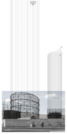 Monumento spontaneo - distruzione del corpo architettonico Carlalberto Amadori. 2014