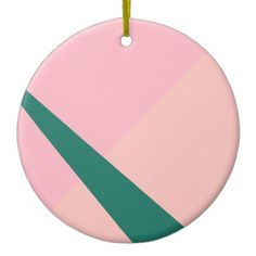 Elegant Geometric Pastel Hot Pink Emerald Green Ceramic Ornament   Girly  Gifts Special Unique Gift Idea