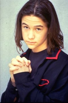 """Joseph Gordon-Levitt saying, """"Please. Just admit that I'm cute, even back then with a bad haircut."""""""
