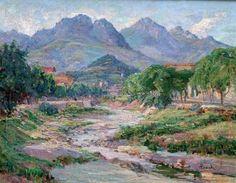 Alphonse BIRCK Paysage. Huile sur toile marouflée sur panneau, signé en