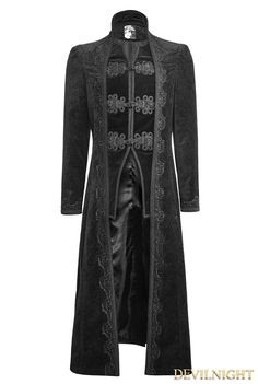 Black Gorgeous Vintage Style Gothic Long Coat