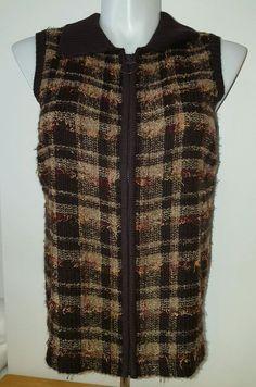 CJ Banks Women's Zip Up Sweater Vest Brown Multi-Color Size XL 1X Free Ship  | eBay