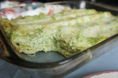 Green lasagna made with peas, mint, basil, parsley, ricotta, mozzarella and mascarpone cheeses. Light like Spring, cheesy and delicious.