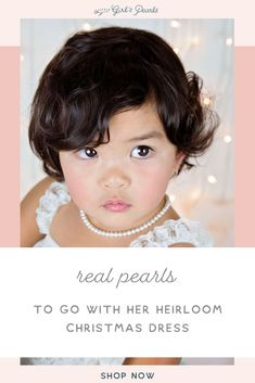 These real pearls will go perfectly with her heirloom Christmas dress! Shop with Little Girl's Pearls to find the perfect fit for her. Find the perfect Christmas gift: littlegirlspearls. Love Bracelets, Silver Bracelets, Silver Earrings, Pearl Earrings, Diamond Cross Necklaces, Pearl Necklaces, Pearl Jewelry, Great Gifts For Women, Gifts For Girls