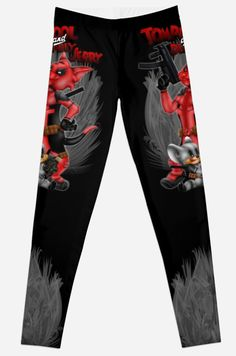 Tompool and deadly Jerry Leggings #Leggings #clothing #retro #vintage #rock #wadewilson #cartoons #duck #swan #ninja #sword #martial #arts #karate #karatekid #cobrakai# #hulk #batman #wolverine #funny #cute #mashup #cats #mouse