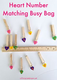 This heart number matching preschool busy bag rules (pun totally intended) because there are so many ways for kids to play and learn.