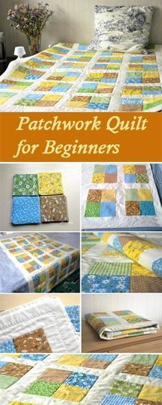 How to Sew a Patchwork Quilt for Beginners. Tutorial http://www.handmadiya.com/2017/04/patchwork-quilt-for-beginners.html