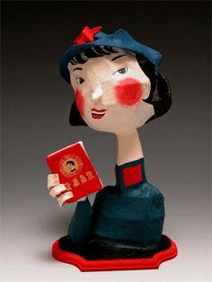 Dominique Donois - china - figure in papier mâché