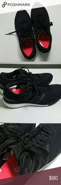"""ADIDAS ultra boost running shoes Brand new, never worn running shoes.  """"Feel thousands of tiny boost? energy capsules cushion you in the Women's adidas? Ultra Boost. Get a speedy shoe with awesome energy return while wrapping feet in a seamless stretch upper for awesome fit and hold. Grip it and go with your Continental? rubber outsole giving you perfect traction. You'll love how your Ultra Boost heel counter hugs your foot and won't bother your Achilles thanks to the notched design!"""" Adidas…"""