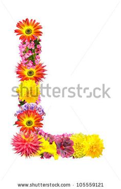 stock photo : Flower letter