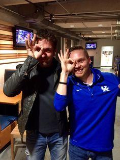 From Brandon Mason's Twitter feed: @bdmason02  Gerard Butler and the 3 googles!! #BBN #KentuckyBasketball -- photo date 2/10/2015