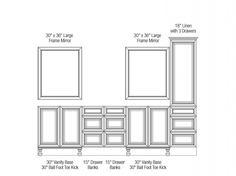 108 Inch Wide Vanity Configuration