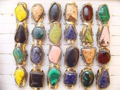 Large Semi-Precious Stone Rings from Peruhttp://www.wholesaleperuvianjewelry.com