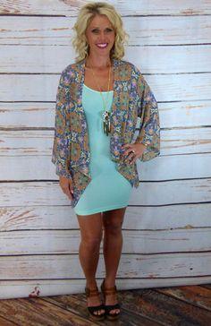 Bahama Kimono #privityboutique @privityboutique