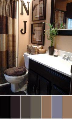 135 best bathroom color schemes images paint colors colores rh pinterest com