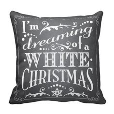 New Arrival Dreaming of a White Christmas Chalkboard Holiday Square Zippered Throw Pillowcase Twin Sides Printed Pillow Sham Golf Christmas Gifts, Christmas Gift Decorations, Christmas Pillow, Christmas Cushions, Holiday Decorating, Holiday Crafts, Decorating Ideas, Decor Ideas, Craft Ideas