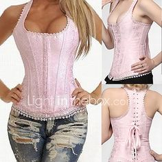 One more bunny top for Elle Elegant Pink Lace Satin Boned Casual Lolita Corset Sexy Outfits, Cool Outfits, Corset Sexy, Boned Corsets, Overbust Corset, Vintage Goth, Steampunk Corset, Pink Lace, Sexy Lingerie