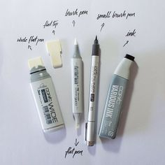 Copic calligraphy tools of the trade, via Jackson Alves