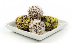 Sjokoladekuler med kokosolje.