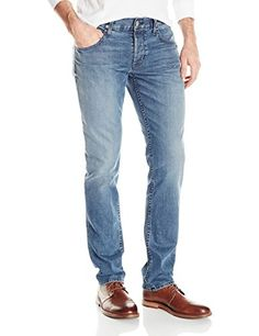 Myncoo Mens Slim Fit Ripped Denim Jeans Washed Blue NO1 33 -- You can find out more details at the link of the image.