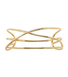 ShopBazaar Jennifer Fisher Yellow Gold Abstract Line Choker FRONT