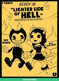 Yay bendy and alice are going on a picnic in hell!!:)