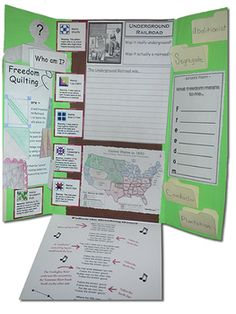 Underground Railroad Lapbook (foldable items)