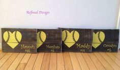 Hey, I found this really awesome Etsy listing at https://www.etsy.com/listing/231641374/heart-softball-pallet-sign