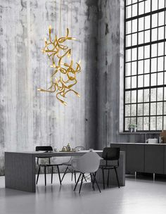 Creating lighting sculptures since Brand van Egmond has designed signature collections of modern lighting. Discover all handmade lighting ► Modern Kitchen Lighting, Modern Floor Lamps, Office Lighting, Modern Chandelier, Chandeliers, Luxury Lighting, Cool Lighting, Interior Lighting, Custom Lighting