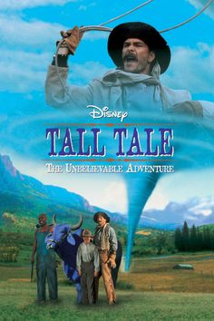 """Tall Tale: The Unbelievable Adventure (DVD) """".Patrick Swayze stars as gun-slinging, tornado-riding cowboy legend Pecos Bill in Disney's most rousing Western adventure yet! Hd Movies, Movies Online, Movie Tv, Movies 2019, Movie Titles, Walt Disney Movies, Walt Disney Pictures, Disney Live, Libros"""