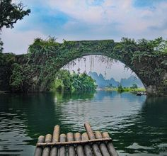 Yulong Bridge in Yangshuo China. If you're going to travel go deep. #intentionallylost #traveldeeper #discoverchina #places_wow #resourcetravel