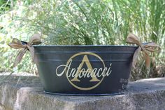 Personalized Oval Metal Tub/Ice Bucket - Party Beverage Tub - Assorted Colors Available on Etsy, $32.00