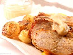No Conforto da Minha Cozinha...: Lombo de Porco no Forno com Puré de Maçã...é sempre bom mudar!