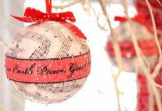 DIY Weihnachten Dekorationen musik sphäre ornament tannenbaum