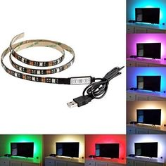 TV LED Lights TV LED Strip TV LED Backlight 100cm 30 LEDs 20 Diferent Modes USB #TVLEDLights #Novelty #Multipurpose