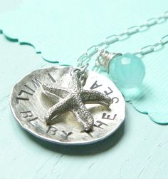 """sea inspired necklace """"I will be by the sea"""""""
