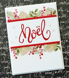 Noel holiday card - Taylored Expressions