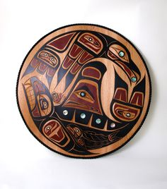 Circle of Life Plaque by artist Brad Starr Tribal Wolf Tattoo, Wolf Tattoos, Totem Pole Art, Native American Artwork, Haida Art, Tlingit, Native Design, Canadian Art, Coastal Art
