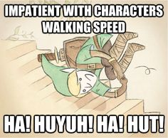 I do this in just about every game I play. #legendofzelda #link