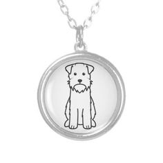 Wirehaired Pointing Griffon Dog Cartoon Pendant