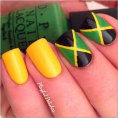 Jamaican Flag Nails