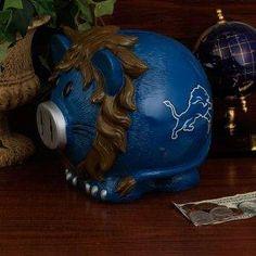Detroit Lions NFL Large Thematic Piggy Bank