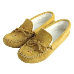 6cab9fad892 Women s Fleece Lined Beaded Moosehide Suede Moccasins 402 - Leather- Moccasins
