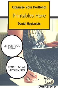 For Dental Hygienists! Keep your portfolio notes organized this year with these free printables!