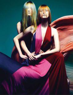 Girls Interrupted | Michalina Glen and Alina Rudnieva | Micky Wong #photography | Harper's Bazaar Hong Kong July 2012