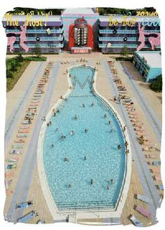 Disney's Pop Century Resort Pool, we stayed here and loved it!!