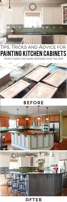 Uplifting Kitchen Remodeling Choosing Your New Kitchen Cabinets Ideas. Delightful Kitchen Remodeling Choosing Your New Kitchen Cabinets Ideas. Painting Kitchen Cabinets White, Kitchen Cabinetry, Kitchen Paint, Kitchen Redo, Painting Cabinets, Kitchen Ideas, White Cabinets, Kitchen Makeovers, Open Kitchen