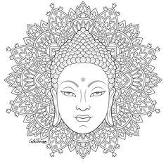 L'image contient peut-être: dessin Pattern Coloring Pages, Mandala Coloring Pages, Colouring Pages, Adult Coloring Pages, Coloring Books, Mandala Design, Mandala Art, Madhubani Painting, Buddha Art