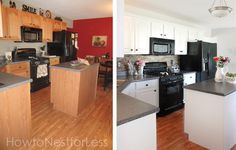 Kitchen cabinet makeover (on a budget) - really attractive and airy kitchen outcome