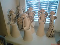 Clay angels by jordan – Artofit Porcelain Clay, Ceramic Clay, Ceramic Pottery, Cold Porcelain, Polymer Clay Figures, Ceramic Figures, Pottery Angels, Clay Angel, Ceramic Angels